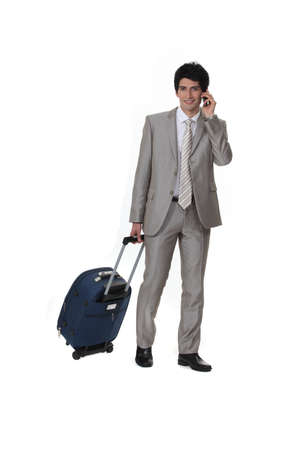 belongings: Man travelling for business
