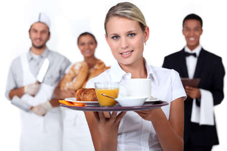 20s waitress: Catering staff