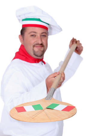 Italian pizza chef photo