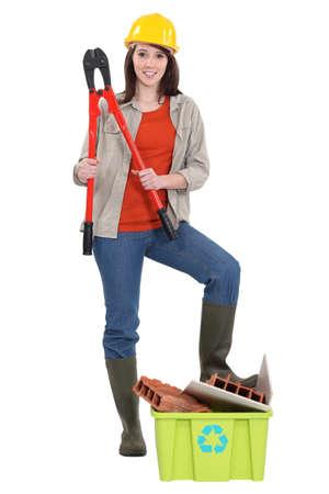 woman laborer photo