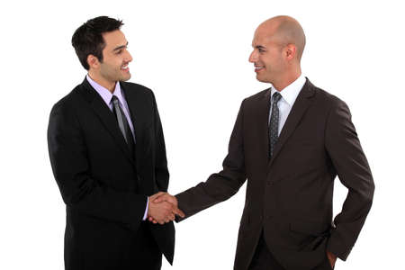 businessmen shaking hands photo