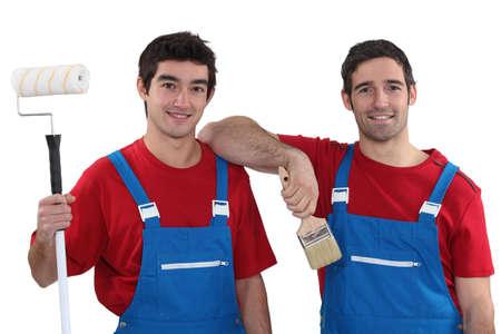 workingman: Dos pintores con trajes a juego