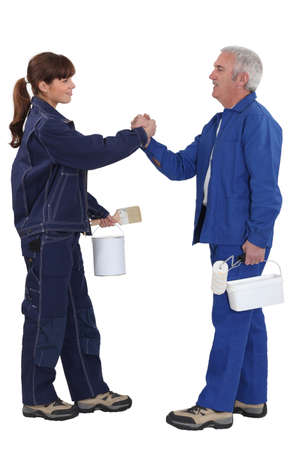 Painters forming a partnership Stock Photo - 18271887