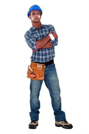 journeyman technician: An injured construction worker.