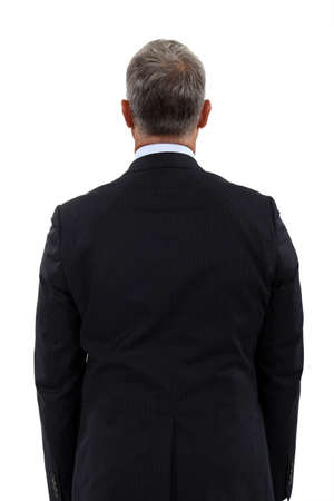 Back view of a mature businessman photo
