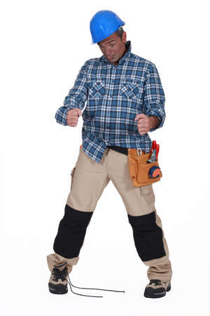 clumsy: Clumsy builder Stock Photo