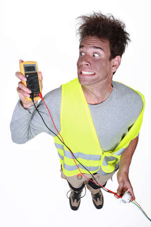tense: Electrocuted man