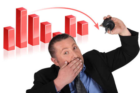 Businessman has made a loss Stock Photo - 18294287