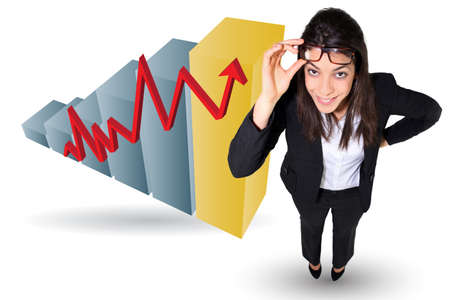Female banker making profit Stock Photo - 18293063