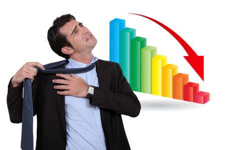 downsizing: Stressed businessman