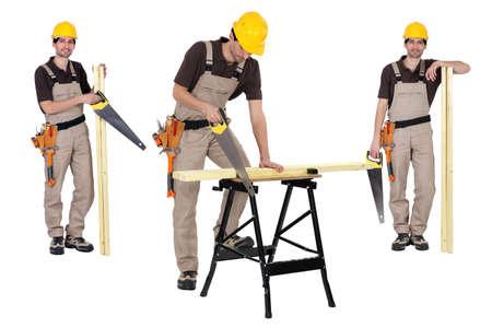 serrucho: Carpenter con serrucho