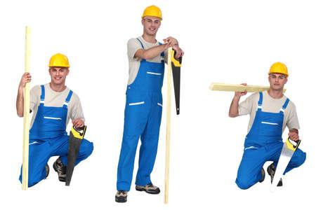 woodworker: Three portraits of a carpenter