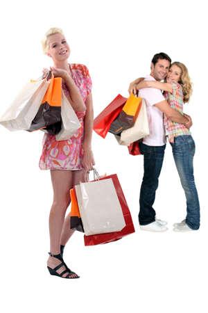 retail therapy: Retail therapy Stock Photo