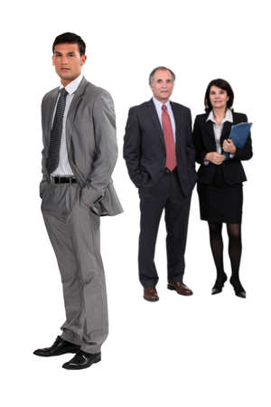 Full length business people photo