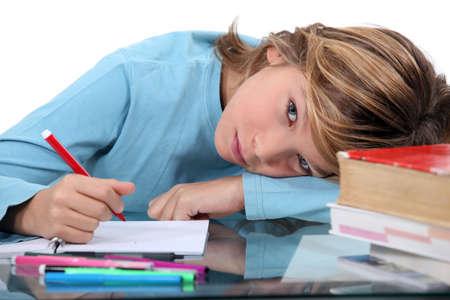 science tips: Child doing homework