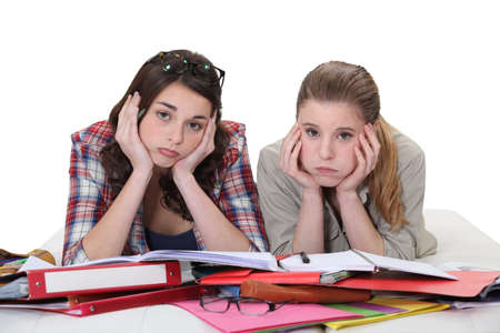 undergrad: Young women sick of studying
