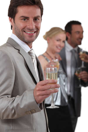 People drinking champagne photo