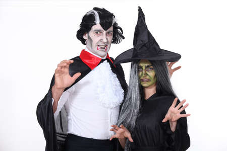 Man and woman in Halloween costumes Stock Photo - 18464488