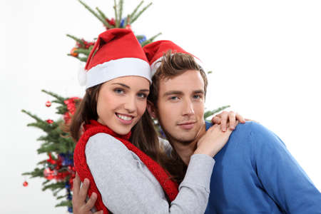 incarnate: Couple with Christmas hat