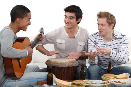 convivial: Convivial meal with music