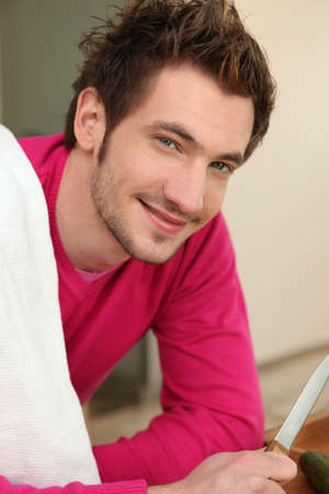 young man cooking Stock Photo - 18740912