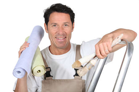 painter and decorator: Painter and decorator Stock Photo