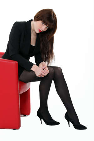A pretty brunette businesswoman. photo