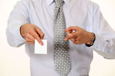 businesscard: Executive proferring his businesscard