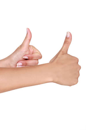 acclamation: Two thumbs up