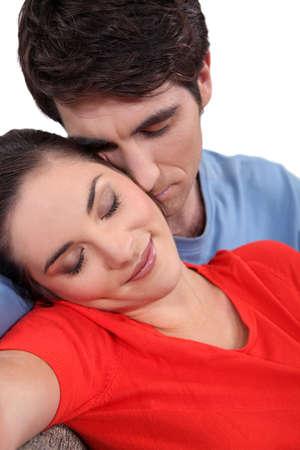 proximity: Loving couple Stock Photo