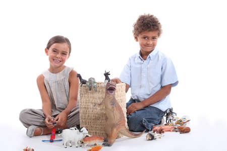 Children playing with toys Stock Photo - 18815617