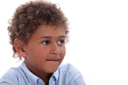 factions: Child with curly hair