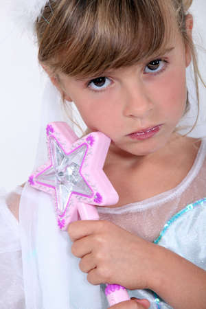 Little girl dress as fairy Stock Photo - 18817057