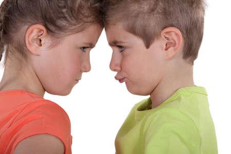 A feud between children photo