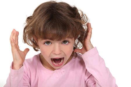 shrieking: A child screaming
