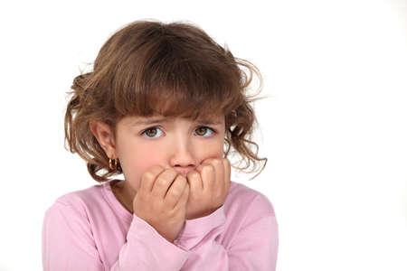 nerveux: Scared petite fille