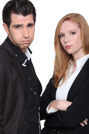 irked: Fed up couple Stock Photo