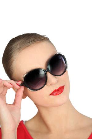 combed: Woman with sunglasses