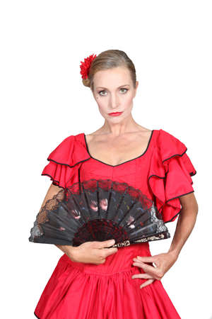 tiedup: Woman dressed in Spanish attire