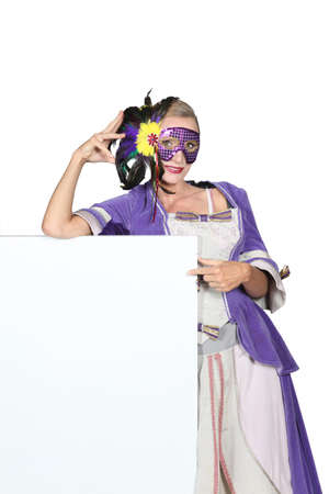 Woman with carnival mask photo