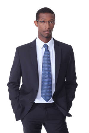 Black young businessman photo