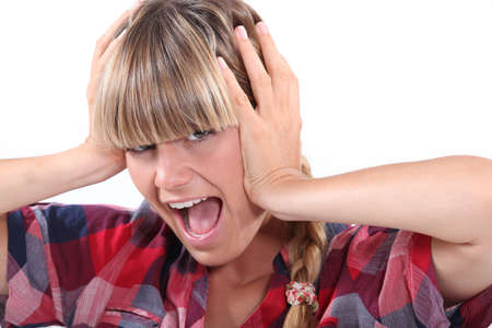 Woman screaming Stock Photo - 18817485