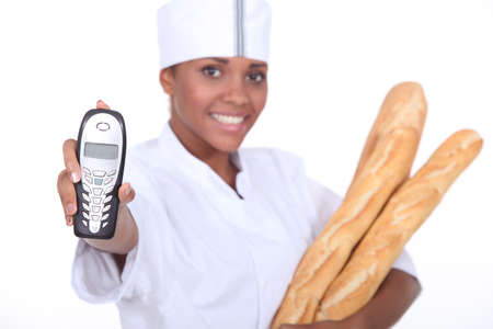 portrait of a female baker photo