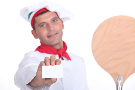 portrait of a pizza chef photo