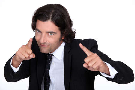car retailer: Businessman pointing Stock Photo