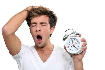 sluggish: a man yawning