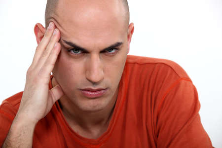 irritable: Man with a problem Stock Photo