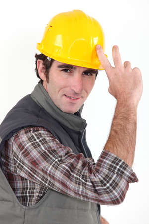 tipping: Builder tipping hat