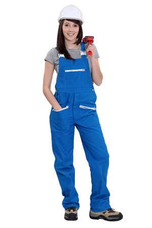 jumpsuit: female plumber