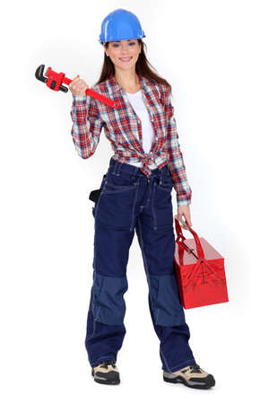 Female plumber photo
